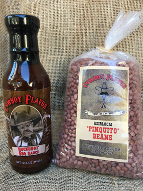 Santa Maria Heirloom Pinquito Beans and Buckshot BBQ Sauce